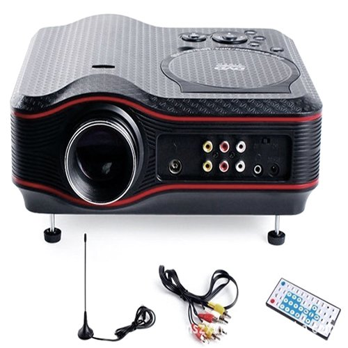 Lightinthebox Svga 2D/3D 1400 Lm Mini Home Entertainment Dvd Lcd Projector With Tv Tunerhome Video Movie Theater Mini Projectors