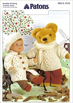 Patons Knitting Patterns For Dolls Clothes : Patons Dolls and Teddy Clothes Knitting Pattern: Dolls ...