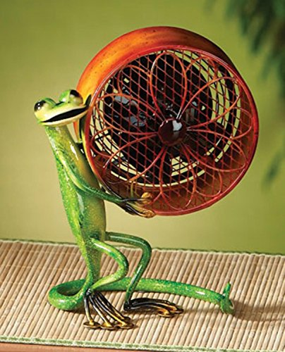 Deco Breeze Decorative Figurine Table Fan, Gecko, 9-1/2-Inch by 7-1/2-Inch (Tropical Table Fan compare prices)