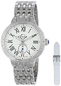 """GV2 by Gevril Women's 9100 """"Astor"""" Diamond-Studded Stainless Steel Watch"""