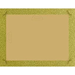 Golden Glitter Certificate Backers - Pack of 5