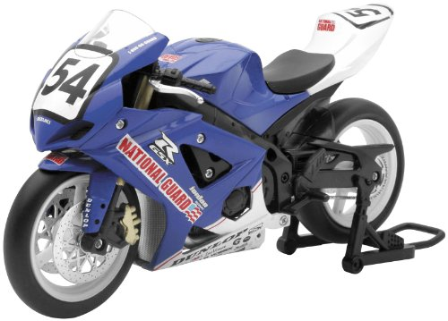 New Ray Toys Street Bike 1:12 Scale Motorcycle National Guard Jordon Suzuki Geoff May