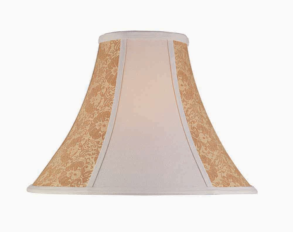 Lite Source CH176-16 16-Inch Lamp Shade, Stone and Cream Gold