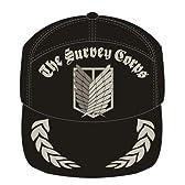 進撃の巨人 調査兵団刺繍キャップ ブラック