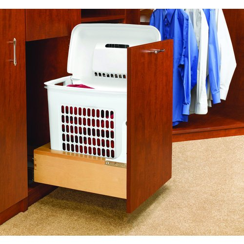 Rev-A-Shelf 4WH-RM-15DM-1 Pull-Out Hamper with Rev-A-Motion Slides, Natural