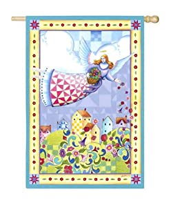Amazon.com : Jim Shore Garden Angel Spring House Flag : Outdoor Decorative Flags : Patio, Lawn