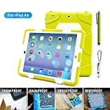 ACEGUARDER Apple Ipad Air Ipad 5 Case Waterproof Rainproof Shockproof Kids Proof Case for Ipad 5 (Gifts Outdoor Carabiner + Whistle + Handwritten Touch Pen) (Aceguarder Brand) (WHITE/APPLE)