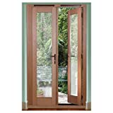 Traditional French Doors - Oak Veneer Frame - W 1790mm - Gold Effect Hardware