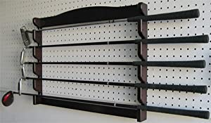 5 Golf Clubs Display Wall Mounted Rack, Solid Wood, GC05 by DisplayGifts