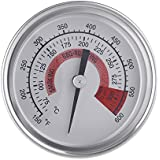 "Anself F&C 2.25"" Stainless Steel BBQ Smoker Pit Grill Thermometer Temp Gauge with Dual Gage 300°C"