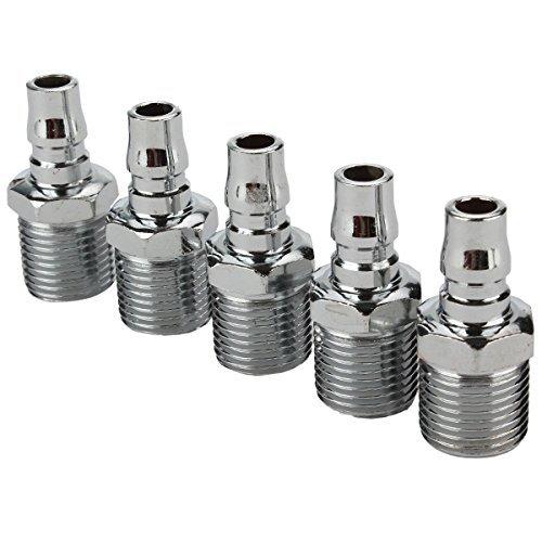 dn-argent-1-2-bspt-filetage-male-tuyau-raccord-rapide-composants-pneumatiques-pack-de-5