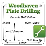 Woodhaven Plate Drilling: Freud FT3000VCE w/2 lift holes