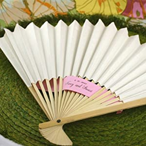 White Paper Fans (Set of 24) - Baby Shower Gifts & Wedding Favors