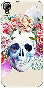 The Racoon Lean printed designer hard back mobile phone case cover for Htc Desire 830. (Pale Water)