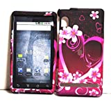 Flower Heart Design Rubberized Snap on Hard Skin Faceplate Phone Shield Cov ....