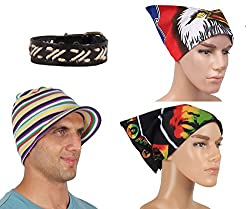 Sushito Stylish Winter Unisex Beanies Cap With Wrist Band & Headwrap