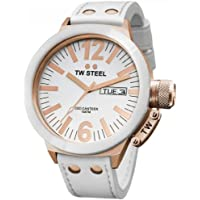 TW Steel CE1036 CEO Canteen White Leather Water Resistant Dial Men's Watch