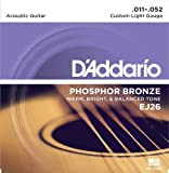 D'Addario EJ26 Phosphor Bronze Custom Light  (.011-.052) Acoustic Guitar Strings
