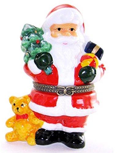 Santa Bear Xmas Tree Trinket Box