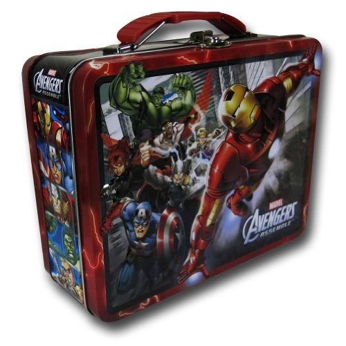 Assorted Colors Avengers Assemble Tin Lunch Box Standard
