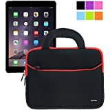Evecase iPad Air 2 Case Bag, UltraPortable Handle Carrying Portfolio Neoprene Sleeve Case Bag for Apple iPad Air 2 (iPad 6) / iPad Air (iPad 5), iPad 4, iPad 3, and iPad 2 - Black