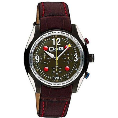 D&G Dolce&Gabbana Men's Quartz Watch d&g performance DW0312 with Leather Strap