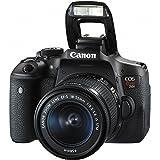 Canon EOS Rebel T6i 24.2MP DSLR Digital Camera & Canon EF-S 18-55mm f/3.5-5.6 IS STM Lens & EF-S 55-250mm f/4-5.6 IS STM + HD 58mm wide angle & Telephoto Lens +24GB Of Memory Class10 +Deluxe Bundle