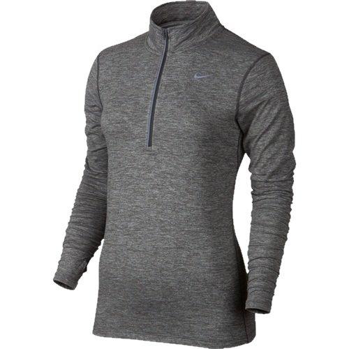 Nike Women's Dri-FIT? Element Half Zip Dark Grey/Heather/Reflective Silver T-Shirt XS