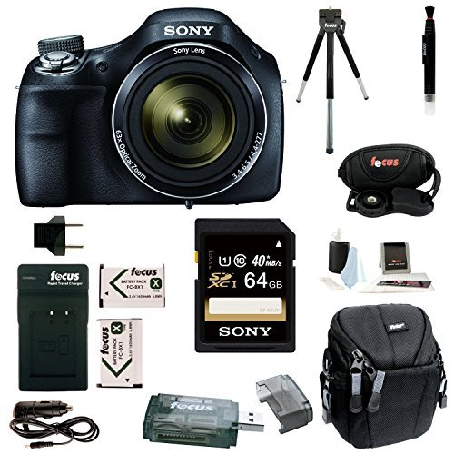 Sony Cyber-shot DSC-H400 Digital Camera with 64GB Deluxe Accessory Bundle (Sony H300 Point And Shoot Camera compare prices)
