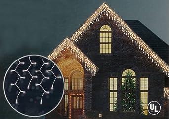 set of 150 shimmering clear mini icicle christmas lights. Black Bedroom Furniture Sets. Home Design Ideas