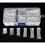 PEPPERLONELY Brand Box Mixed Well Sorted Silver Plated Head Pins 2cmx0.7mm-4.5cmx0.7mm (2100PCs Assorted)