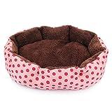 KRYペット用品 ふわふわベッド ソファ クッション 猫ちゃん・ワンチャン S 色が選択でき 水洗いもOK  (ピンク)
