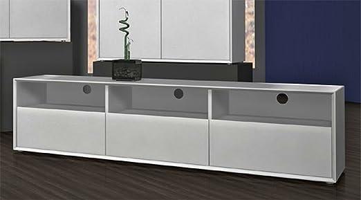 Meuble TV avec 3 tiroirs coloris Blanc, L181 x H41 x P45 cm -PEGANE-