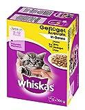 Whiskas Junior Katzenfutter Geflügelauswahl in Gelee
