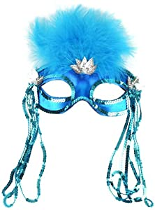 Mask It 71124 Turquoise Satin Half Mask from Midwest Design Imports, Inc.