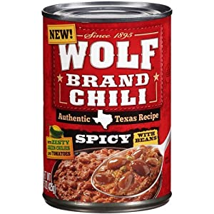 Wolf Brand Chili With Beans Spicy 15oz Can Pack Of 6 by Wolf Brand