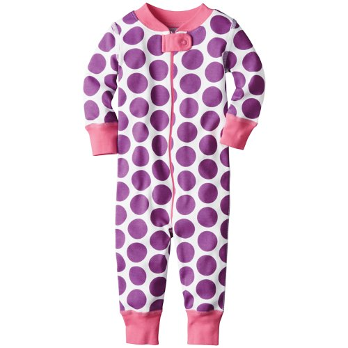 Hanna Andersson Baby Night Night Baby Sleepers In Pure Organic Cotton, Size 90 (36 Months), Poignant Purple front-955665