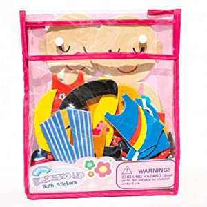 Meadow Kids MEA-MK030 - Dressing Up, juego de recortables adhesivos para el baño en BebeHogar.com