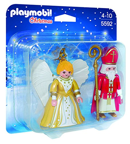 PLAYMOBIL St. Nicholas & Christmas Angel Play Set