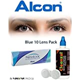 Alcon Freshlook One-Day Blue Color Zeropower Contact Lenses With Free Cleanzol Lens Care Kit (10 Lens Pack) By...