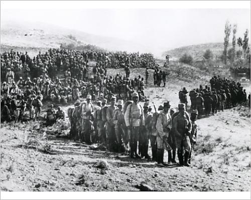 Iranian troops at Kermanshah after Armistice, post-WW1