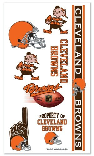 Cleveland Browns NFL Temporary Tattoos (10 Tattoos)