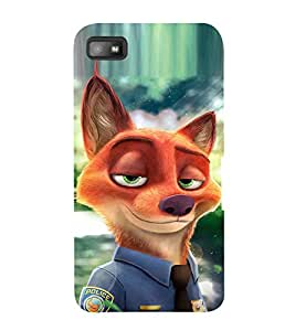 EPICCASE Fox police Mobile Back Case Cover For BlackBerry Z10 (Designer Case)