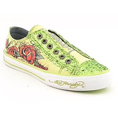 Amazon.com: Ed Hardy Lowrise Glitter Shoe for Women -Light Green