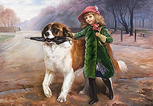 Charles Burton Barber - Off To School-(Framed) canvas 16x20 inch