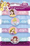 Disney Princess Party Favors - 4 Assorted Color Rubber Bracelets