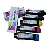 3,000 &2,500 Pages Coloner(TM) Compatible Dell Hicap H625cdw / H825cdw / S2825cdn Toner Cartridges (5-pack set)