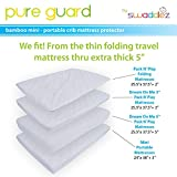 Pack N Play Crib Mattress Pad ● Fits Pack and Play or Mini Portable Crib and Playard Mattresses ● Ultra Soft Waterproof Protector Pad Sheets ● Dryer Friendly
