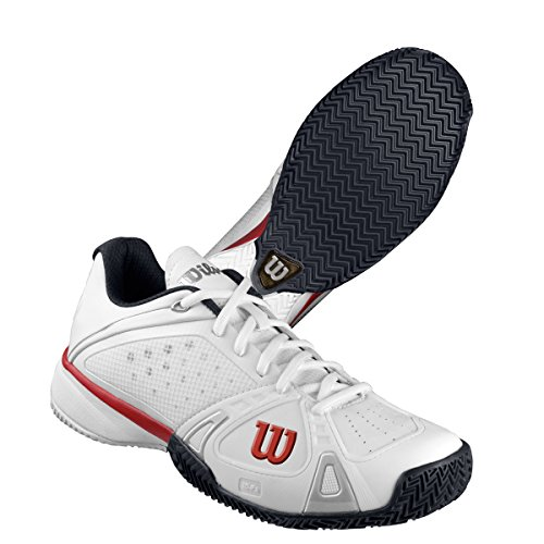 Wilson Men`s Rush Pro CC Tennis Shoes White and Red серьги butler and wilson
