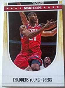 2011-12 Panini Hoops #190 Thaddeus Young Trading Card in a Protective Case by Hoops